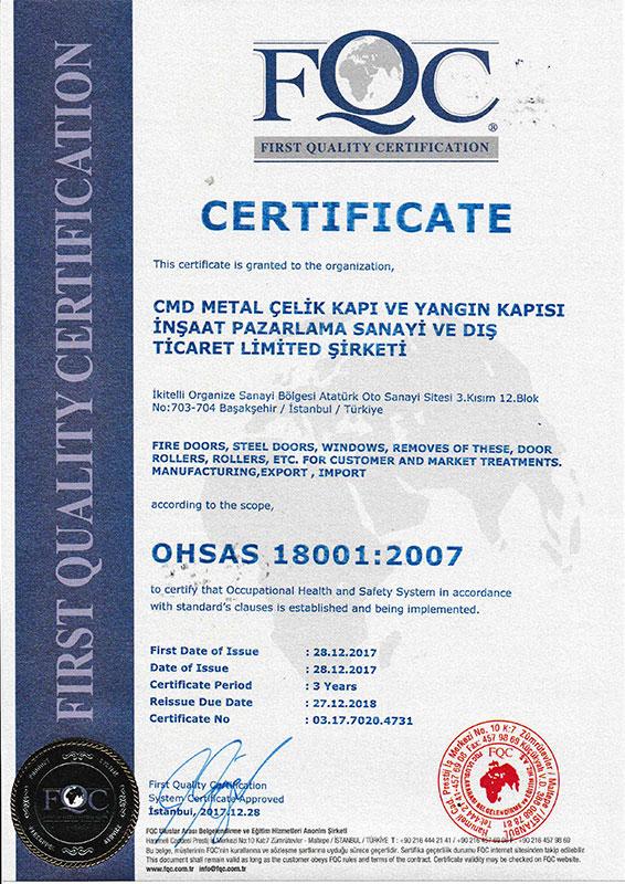 CMD OHSAS 18001